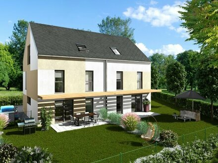 Wunderschönes Doppelhaus nur 650m zur UBahn (U1), mit großem Garten, Baurechtsgrund