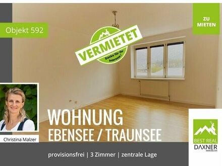 Vermietet! ***Provisionsfrei*** Zentrale 3-Zimmer Mietwohnung (72m²) in Ebensee zu mieten!