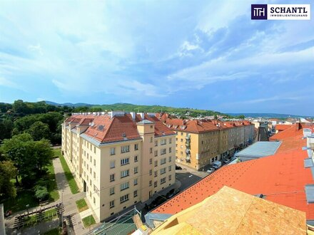 Zentrumsnah mit Blick in die Wiener Weinberge: Exklusive 2-Zimmer Dachgeschoßwohnung mit ca. 45m ² Dachterrasse!