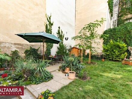 Citywohnung mit Nutzungsmöglichkeit von wunderschönem grünen Garten! Schlüsselfertig + PROVISIONSFREI!