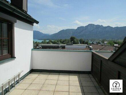 Mondsee: 2-Zi.-Maisonette-Wohnung mit herrlichem Seeblick