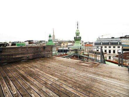 Spannende Architektur genießen - großzügige DG Wohnung mit Terrasse