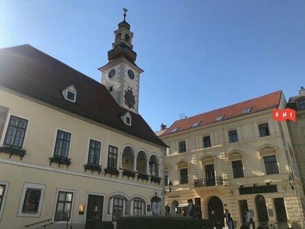 Dachgeschoß-Objekt beim Rathaus mit Terrasse und Gartenmitbenützung