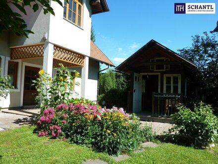 ITH: Stimmungsvolles Einfamilienhaus + Gartenhaus + Biotop + Top-Sichtbarkeit + Lichtdurchflutet + Aussichts- und Zentrumslage!