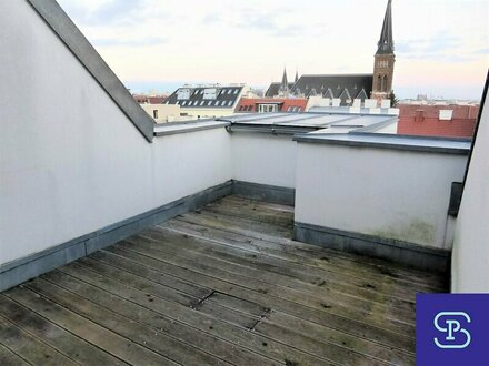 Unbefristete 60m² DG-Wohnung + 13m² Terrasse mit Einbauküche - 1160 Wien