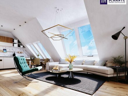 Ab ins Dachgeschoss! TOP aufgeteilte 2-Zimmer Wohnung mit Sonnen-Balkon! Traumhaftes Altbauhaus + U-Bahn ums Eck!