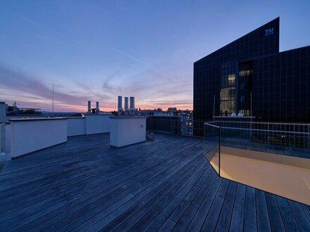 THE ROOFTOP: Extravagantes Dachterrassen-Penthouse mit Blick auf die Wiener Secession