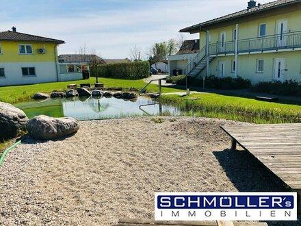 Exklusives Wohnen am Golfplatz! Sonnige Terrassenwohnung mit Schwimmteichnutzung in absoluter Ruhelage!