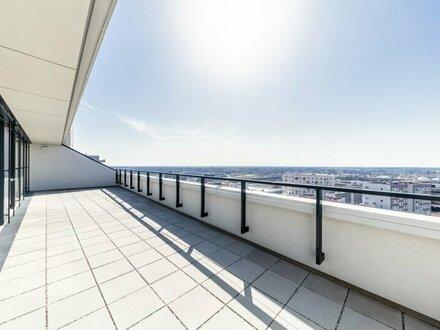 SeeSee Tower ~ Exklusive 4-Zimmer Wohnung mit atemberaubenden Ausblick! DIREKT AM SEE ~ 45m2 Außenfläche! U-Bahn Nähe!