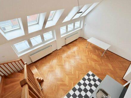 EUM - Dachgeschoß mit großer Dachterrasse! 3-Zimmer-Wohnung mit tollen Raumhöhen