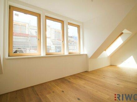 ** zwischen Rochusmarkt und Stadtpark ** DG-Erstbezug mit 3 Zimmern und südseitiger Terrasse (ca. 22 m²) in Top Lage