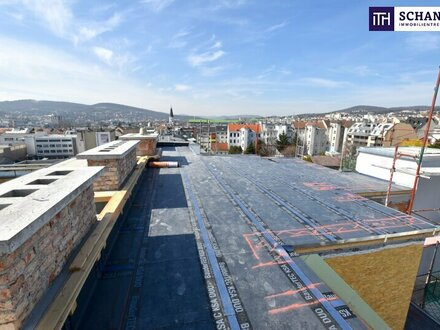 Was für ein steiles Dach! HERRSCHAFTLICHES Penthouse mit über 60 m² Dachterrasse und den allerbesten Aussichten über Wien!