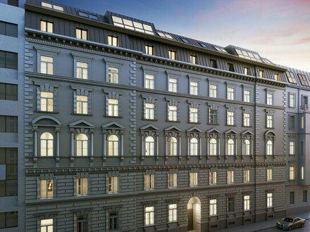 (Exklusiver Erstbezug) NEW PRESTIGE - 2-Zimmer Altbauwohnung in top Lage am unteren Belvedere