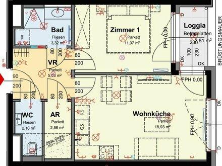 Kompakte Starterwohnung mit 2-Zimmern u. inkl. Loggia (5/18)