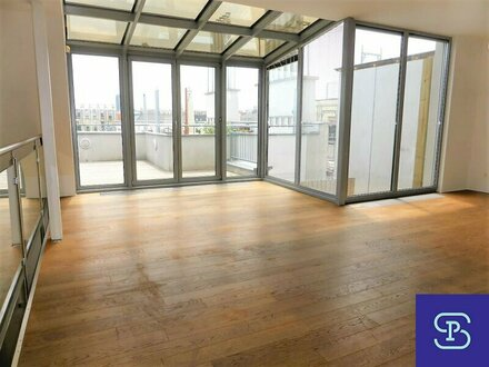 Stylischer 130m² Dachausbau + 60m² Terrassen und Einbauküche - 1050 Wien