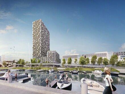 Wien's neuer Hot Spot - Blick zur Reichsbrücke