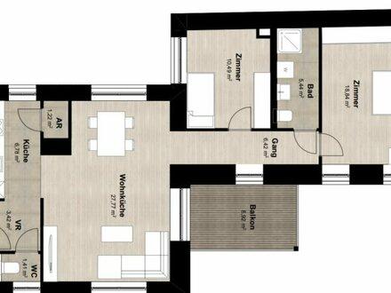 ++Projekt TG 17++ Toller 3-Zimmer ALTBAU-ERSTBEZUG mit 9m² Balkon, umfassend saniertes PROJEKT!