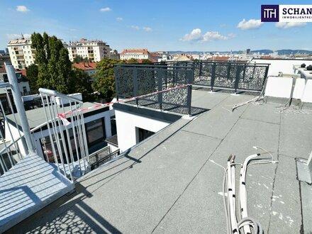 Besser geht´s nicht! Blick über Wien + Riesenterrasse + High Quality + Rundum saniertes Altbauhaus! Ab ins stylische Dachgeschoss…