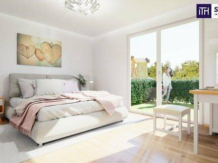 BEZAUBERNDE - 4 Zimmer: Feine Maisonetten-Wohnung mit einladenden Garten + Carport