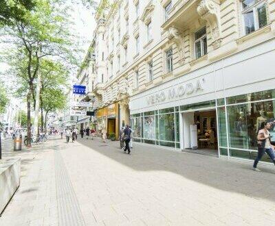 GESCHÄFTSFLÄCHE direkt auf der Mariahilferstraße zu vermieten!