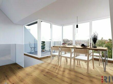 bitte Inseratstext beachten! RAUMWUNDER - 4 Zimmer Dachgeschosswohnung mit spektakulärem Wienblick | Raumhöhe bis zu 2,95m