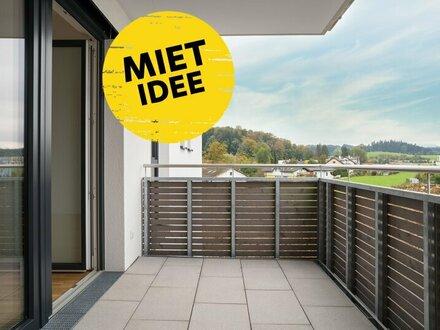 Zentrale 2-Zimmer Neubauwohnung mit Balkon und Tiefgarage