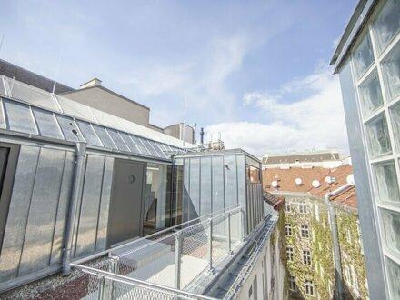 Moderne Dachgeschosswohnung mit Terrasse im 6. Bezirk zu vermieten!
