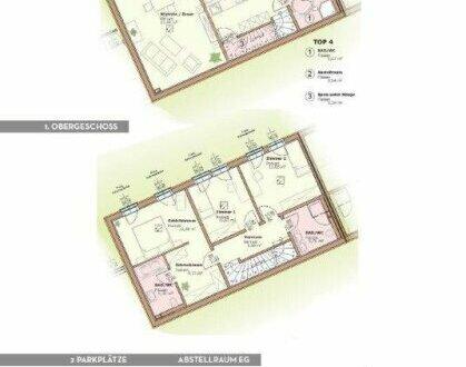 Luxuriös ausgestattete Maisonette-Wohnung (ca. 126,39 m²) Terrasse / Garten. NEUBAU!