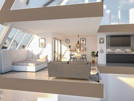 Nähe Augarten: 2 Zimmer Dachgeschoss mit Loggia