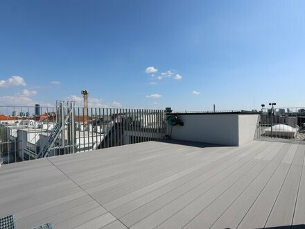 TREND HOMES! Sonniger Dachgeschoß-Erstbezug mit Weitblick-Dachterrasse nächst Augarten