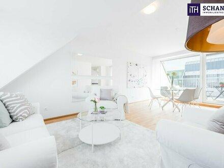 """Stylisch Wohnen im Dachgeschoss mit der """"Sonne vor der Terrasse""""!"""