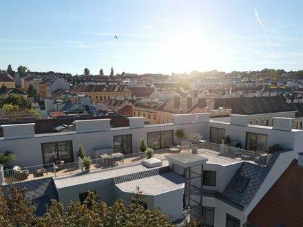Sonniger Dachgeschoß-Erstbezug nächst Schönbrunn mit Fernblick-Terrasse!
