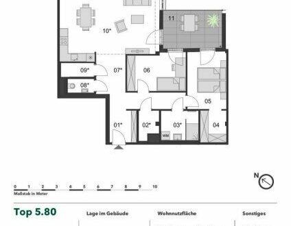 +++ PARKBLICK! +++ Große 3 Zimmer Eigentumswohnung mit großer Terrasse im Herzen von Margareten