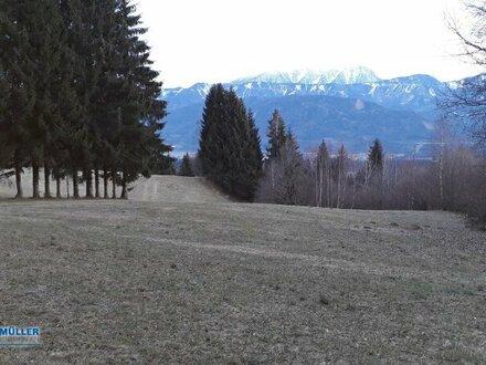 Baugrundstück in bester Lage mit Blick ins Drautal - umgeben von Wald und Wiesen