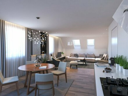 Hinreißende Dachgeschoß-Wohnung in Salzachnähe