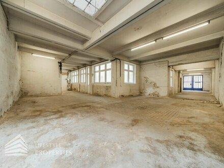 Renovierungsbedürftig: helle Halle/Garage, Nähe Raimund Theater
