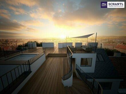 GROSSZÜGIG LEBEN! Extravagante Dachgeschosswohnung mit traumhafter Dachterrasse! Erstbezug!!