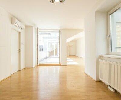 Schöne 4-Zimmern DG-Wohnung mit 2 Terrassen nahe zum Naschmarkt - unbefristet zu mieten!