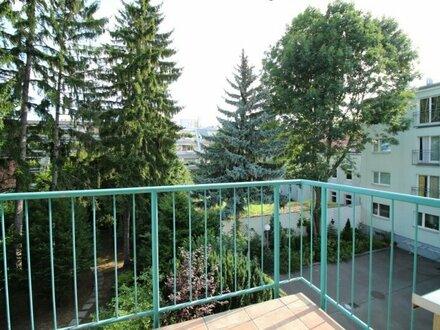Balkonwohnung mit gemeinsamen Garten!