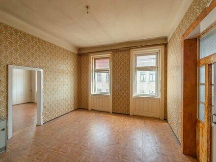 ++NEU++ Sanierungsbedürftige 3-Zimmer Altbauwohnung, guter Grundriss möglich!