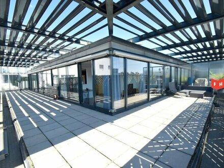Lichtdurchflutete 97m² Terrassenwohnung mit 82m² Terrassen & Tiefgaragenplatz Nähe U2 Donauspital