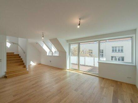 ++NEU** Hochwertige 4-Zimmer DG-Maisonette, gute Raumaufteilung, mit Balkon u. 2 Terrassen!