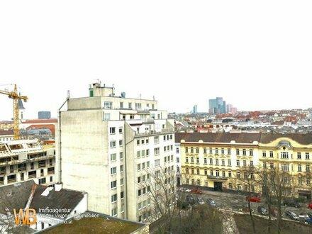 3-Zimmer Luxus-Mietwohnung mit Loggia mit tollem Blick über Wien