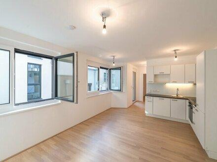 Six in the City: Premium 2-Zimmer NEUBAUwohnung mit Balkon, Hofruhelage mitten in der City! gleich beim Haus des Meeres!