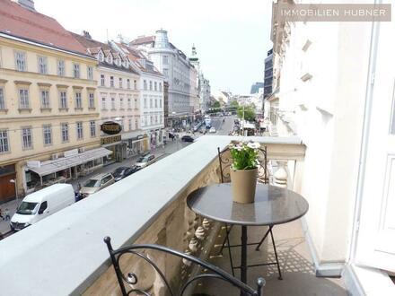Prachtvolle Beletage mit Balkon in Bestlage am Rochusmarkt! Top saniert und möbliert