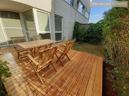 Sonnige Maisonette mit Garten und hübscher Terrasse, nah dem beliebten Mühlwasser