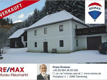 Verkauft - Verkauft Haus mit Stallgebäude in idyllischer Lage in Kärnten