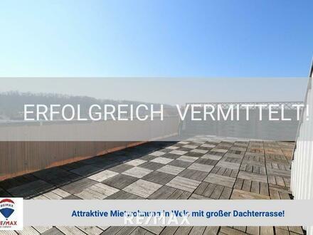 Attraktive Mietwohnung mit großer Dachterrasse!