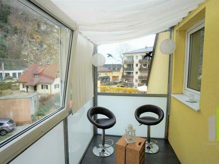 Parsch 3 Zimmerwohnung mit verglastem Balkon und Gartenanteil 3D Besichtigung