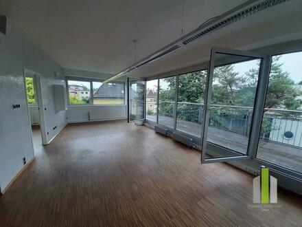 Aussergewöhnliches Penthousebüro mit repräsentativer Terrasse